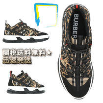 Burberry Other Check Patterns Leopard Patterns Street Style Sneakers