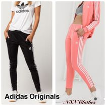 adidas Stripes Casual Style Street Style Long Logo Skinny Pants
