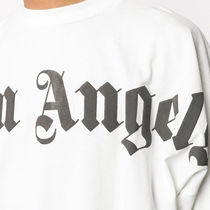 Palm Angels Crew Neck Crew Neck Street Style Plain Cotton Short Sleeves Oversized 4