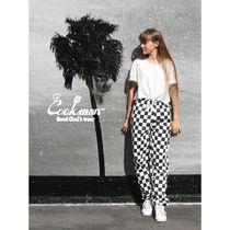 Tapered Pants Other Plaid Patterns Unisex Street Style
