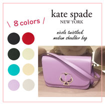 kate spade new york NICOLA Plain Leather Office Style Elegant Style Formal Style