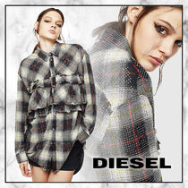 DIESEL Other Check Patterns Casual Style Street Style Long Sleeves