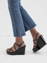 Charles&Keith Platform Casual Style Faux Fur Plain