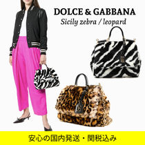 Dolce & Gabbana SICILY Zebra Patterns Leopard Patterns Casual Style 2WAY Chain