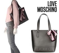 Love Moschino Casual Style Faux Fur A4 Plain Totes