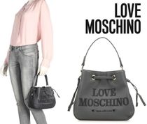 Love Moschino Casual Style Faux Fur Plain Shoulder Bags