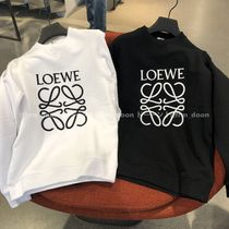 LOEWE Crew Neck Sweat Long Sleeves Plain Cotton Sweatshirts
