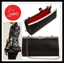 Christian Louboutin Casual Style 2WAY Chain Plain Leather Party Style