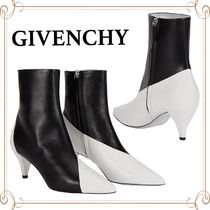 GIVENCHY Bi-color Plain Leather Ankle & Booties Boots