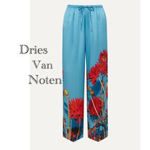 Dries Van Noten Flower Patterns Casual Style Silk Plain Long Pants