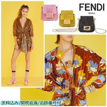 FENDI BAGUETTE Casual Style Chain Party Style With Jewels Elegant Style
