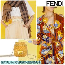 FENDI BAGUETTE Casual Style Chain Plain Party Style With Jewels