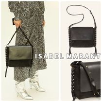 Isabel Marant Casual Style Calfskin Leather Shoulder Bags