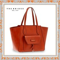 The Bridge Casual Style A4 Leather Handmade Office Style Totes