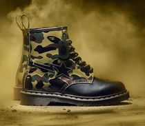 Dr Martens 1460 Camouflage Unisex Street Style Leather Boots