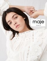 maje Casual Style Cotton Party Style Office Style Elegant Style