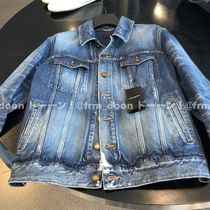 Saint Laurent Short Denim Plain Denim Jackets Jackets