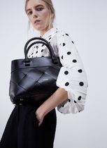 Uterque Casual Style 2WAY Plain Leather Handmade Elegant Style Totes