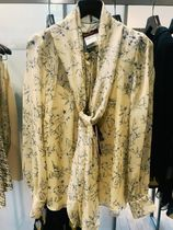 Max Mara Studio Flower Patterns Casual Style Silk Collaboration Office Style