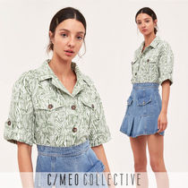 Cameo the Label Tropical Patterns Casual Style Medium Short Sleeves