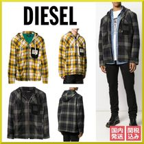 DIESEL Short Other Check Patterns Jackets