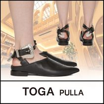 TOGA Platform Casual Style Plain Leather Party Style