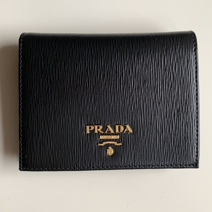 PRADA Folding Wallets Bi-color Leather Folding Wallets 2