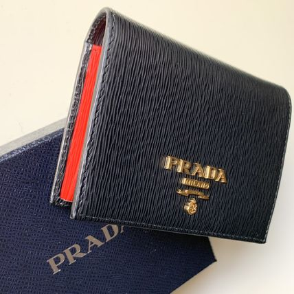PRADA Folding Wallets Bi-color Leather Folding Wallets 3
