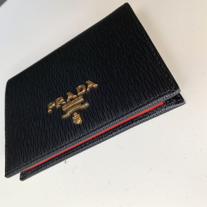PRADA Folding Wallets Bi-color Leather Folding Wallets 7