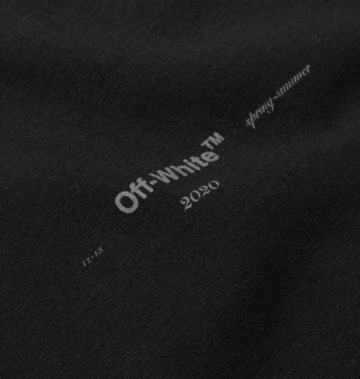 Off-White Long Sleeve Crew Neck Unisex Street Style Long Sleeves Cotton 4