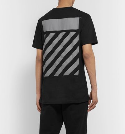 Off-White Long Sleeve Crew Neck Unisex Street Style Long Sleeves Cotton 6