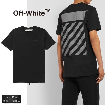 Off-White Long Sleeve Crew Neck Unisex Street Style Long Sleeves Cotton