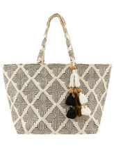 Accessorize Casual Style Canvas Tassel Totes