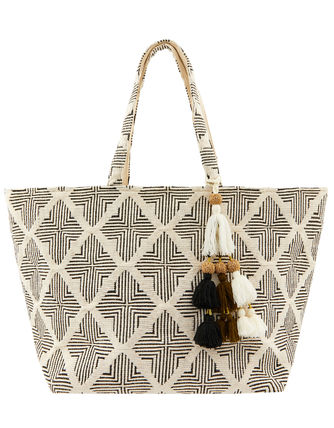Casual Style Canvas Tassel Totes