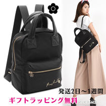 MARY QUANT Casual Style 2WAY Plain Backpacks