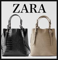 ZARA Casual Style Other Animal Patterns Shoulder Bags