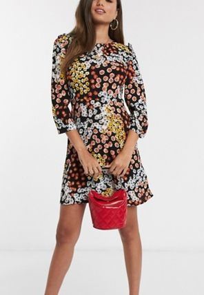 Flower Patterns Casual Style Dresses