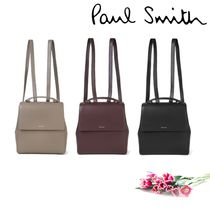 Paul Smith Casual Style 2WAY Plain Leather Backpacks