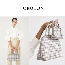OROTON Glen Patterns Casual Style Saffiano 2WAY Office Style