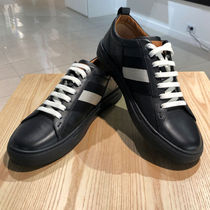 BALLY Stripes Studded Street Style Leather Sneakers