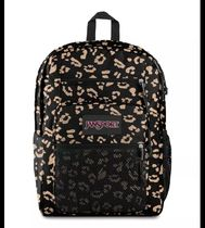 jansport Leopard Patterns Casual Style Unisex A4 Backpacks