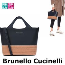 BRUNELLO CUCINELLI Casual Style Blended Fabrics 2WAY Plain Leather