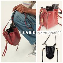 Isabel Marant RADJA Casual Style Calfskin Studded Leather Party Style Purses