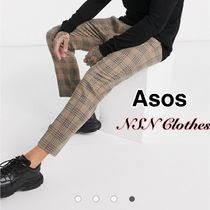 ASOS Tapered Pants Other Check Patterns Wool Tapered Pants