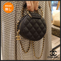 CHANEL MATELASSE Casual Style Calfskin 2WAY Plain Leather Party Style