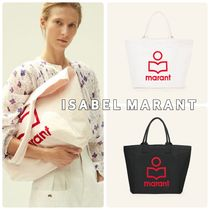 Isabel Marant Casual Style Canvas A4 Totes
