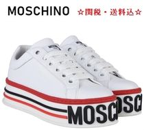 Moschino Platform Round Toe Lace-up Casual Style Street Style Plain