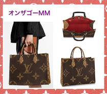 Louis Vuitton Monogram Casual Style Unisex 2WAY Leather Office Style