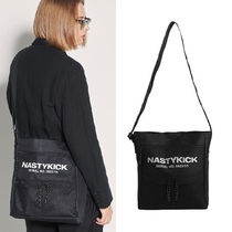NASTYKICK Casual Style Unisex Street Style A4 Plain Shoulder Bags