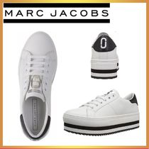 MARC JACOBS THE MARC JACOBS Stripes Platform Casual Style Street Style Leather Logo